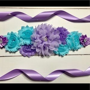 Accessories - Aqua,Lavender Maternity Sash Belt/Pregnancy Sash